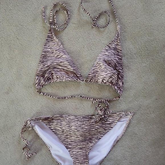 Urban Outfitters Other - Animal Print Brown Zebra Ecote Bikini